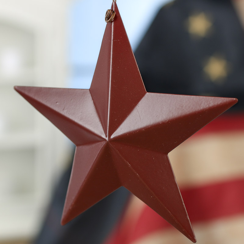 Red Star Wall Decor : Primitive red barn star ornament wall decor home