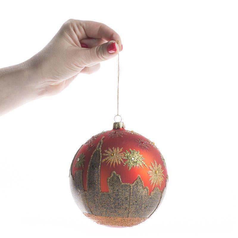 New york skyline glass ball ornament christmas ornaments for Glass christmas balls crafts
