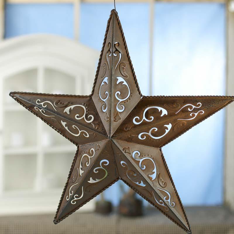 Rustic Filigree Barn Star Barn Stars Primitive Decor