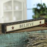 """Believe"" Chunky Wood Block Sign"