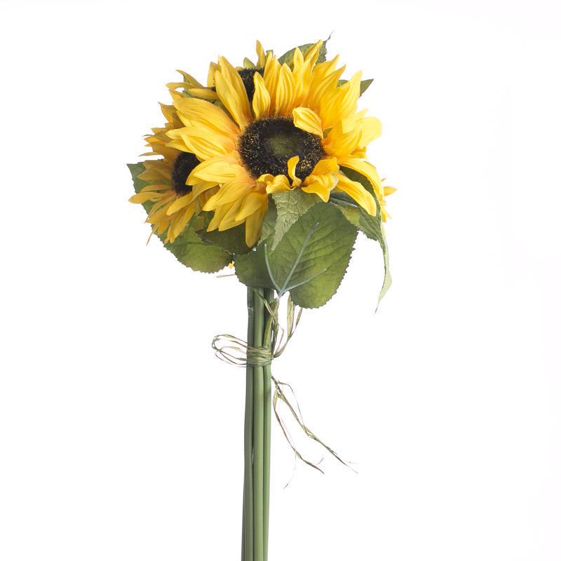 Artificial Sunflower Bundle Bushes Bouquets Floral