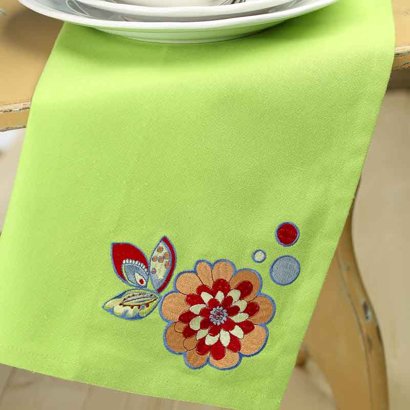 Dish Towel Sale: Sunny Garden Embroidered Cloth Dish Towel