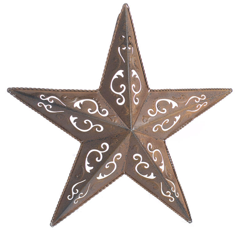 Rustic filigree barn star barn stars primitive decor for Star decorations for home