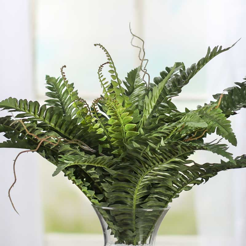 Artificial Fern Bush Green Houseplant Realistic