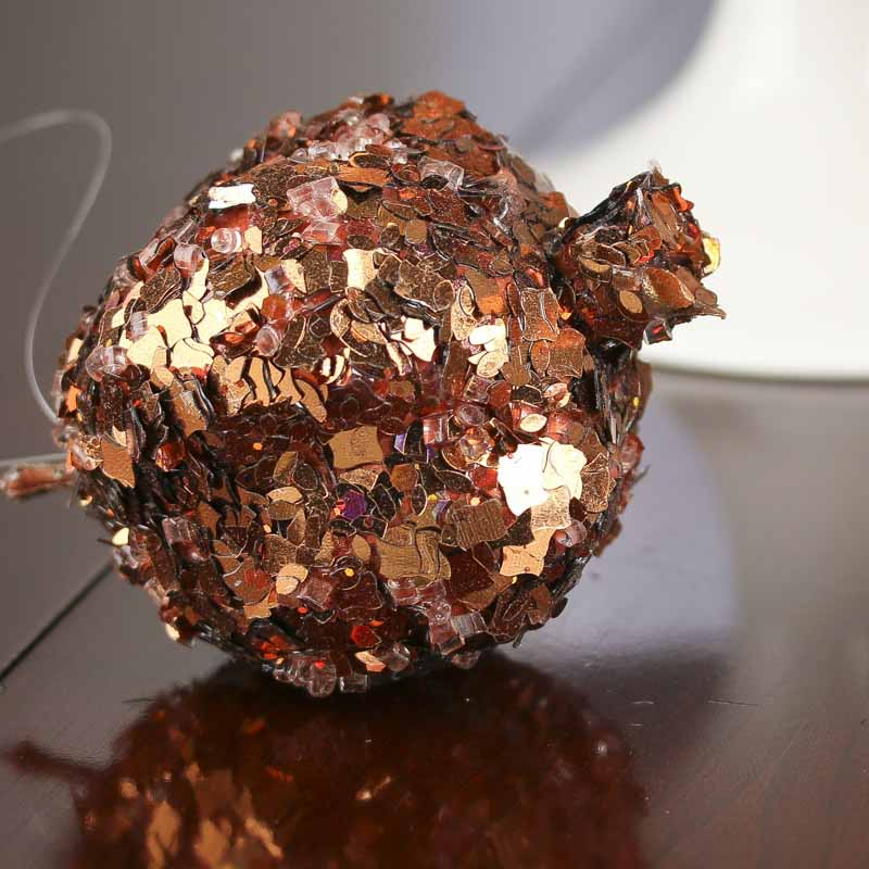 Copper sequined artificial pomegranate ornaments vase for Artificial pomegranate decoration