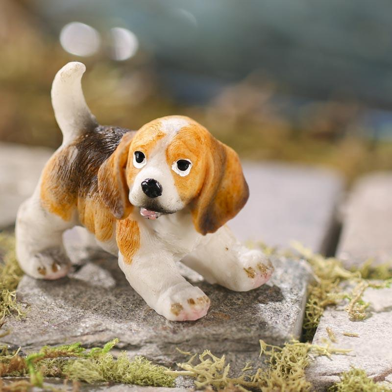 Dollhouse Miniature Beagle Puppy - Animal Miniatures ...