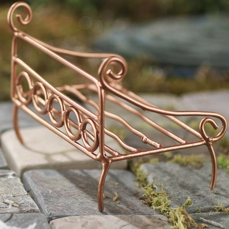 Miniature Copper Wire Bench Fairy Garden Miniatures
