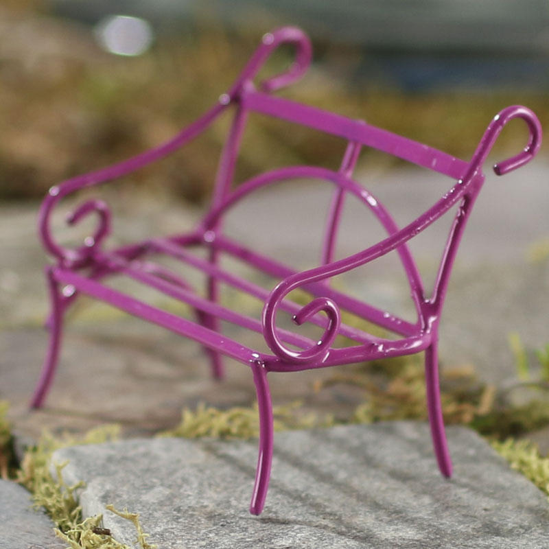 Gnome Garden: Miniature Fuchsia Wire Bench
