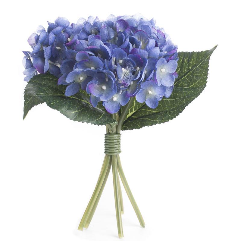 Periwinkle Artificial Hydrangea Bouquet Spring Summer
