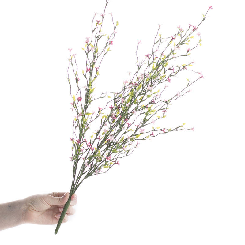 Factory Direct Craft Artificial Pink Meadow Wildflower Bush
