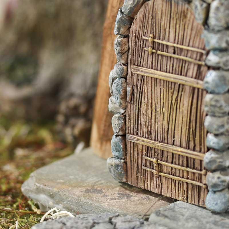Miniature Stone And Wood Door And Walkway Fairy Garden
