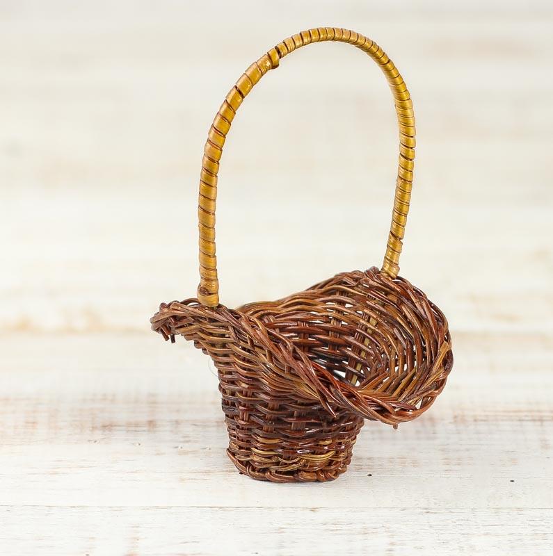 small wicker flower basket baskets floral supplies. Black Bedroom Furniture Sets. Home Design Ideas