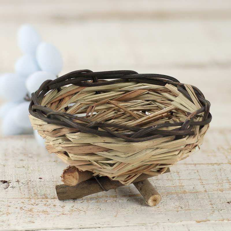 how to make a bird nest basket
