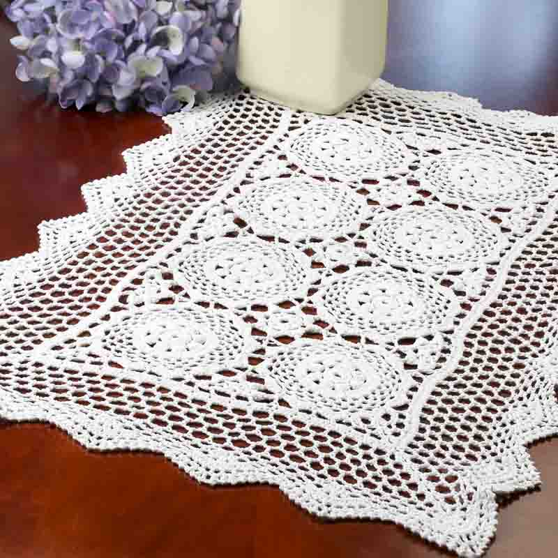 Crochet Doilies : ... Rectangular Crocheted Doily - Crochet and Lace Doilies - Home Decor