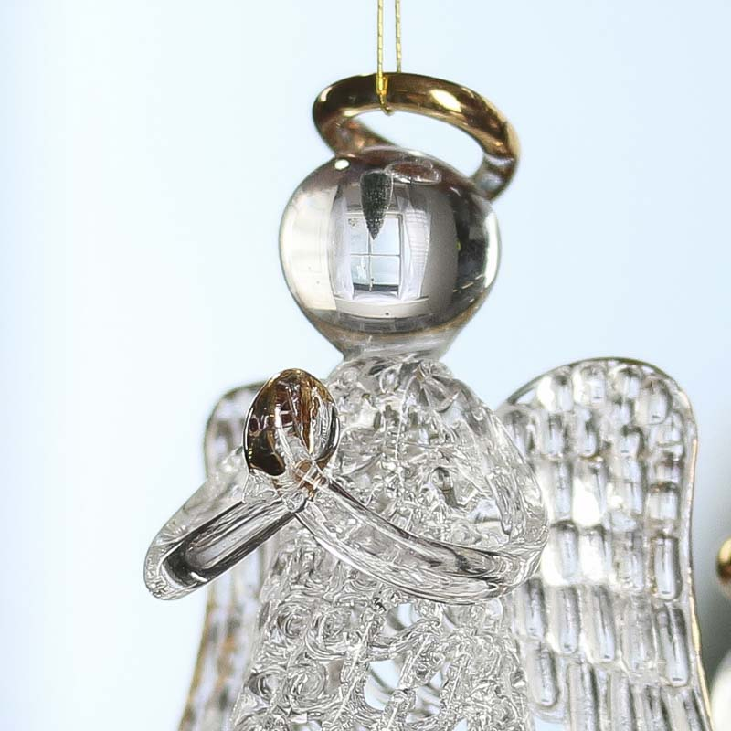 Clear Glass Angel Ornaments - Christmas Ornaments - Christmas and ...