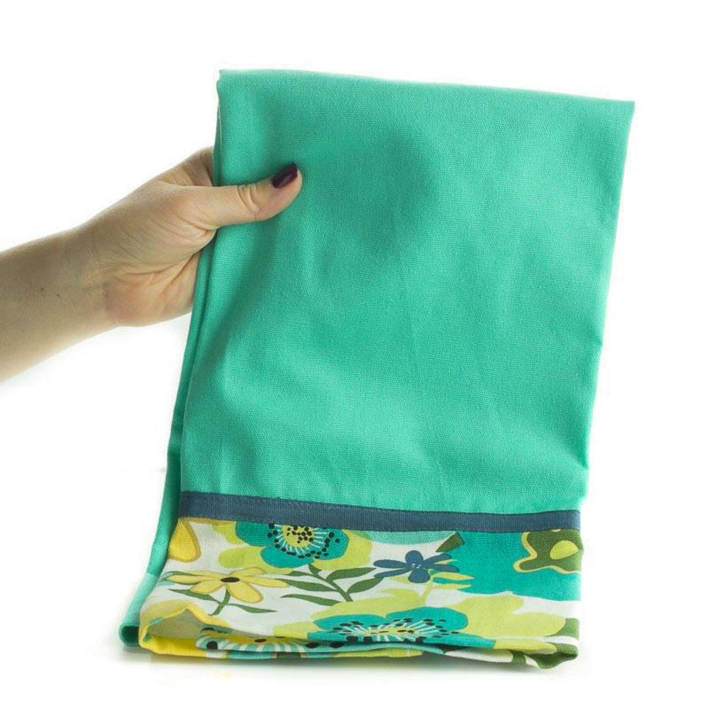 Dish Towel Sale: Olivia Floral Border Cloth Dish Towel