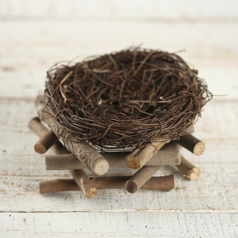 How To Weave A Basket Out Of Twigs : Woven twig bird nest basket birds butterflies basic