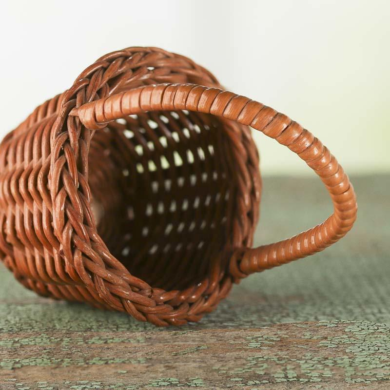Bamboo Basket Making Supplies : Small wicker basket kitchen miniatures dollhouse