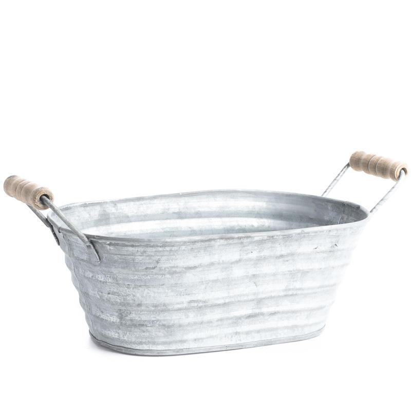 Galvanized oval wash tub kitchen and bath home decor for Oval garden tub