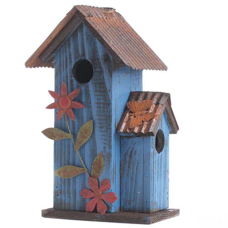 Rustic wood birdhouse birds butterflies basic craft for Wooden craft supplies online