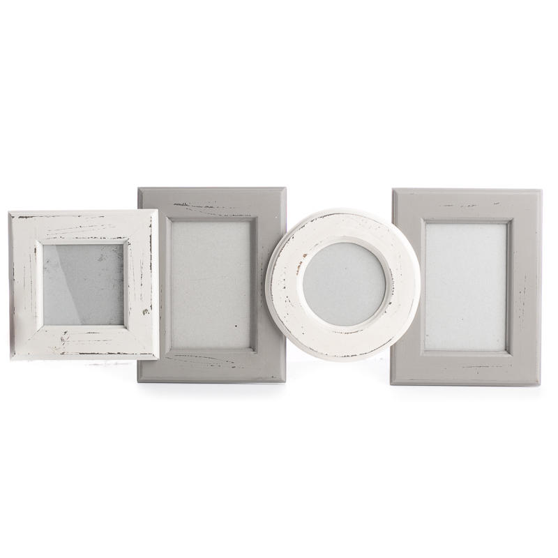 Grey and Cream Weathered Multi Picture Frame - Coastal Decor - Home ...
