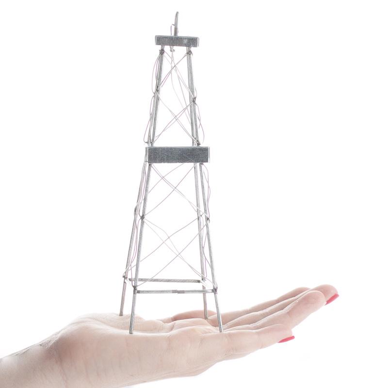 Oil Rig Tower Ornament Fairy Garden Supplies Dollhouse