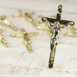 Plastic Gold Metallic Cross Crucifixes