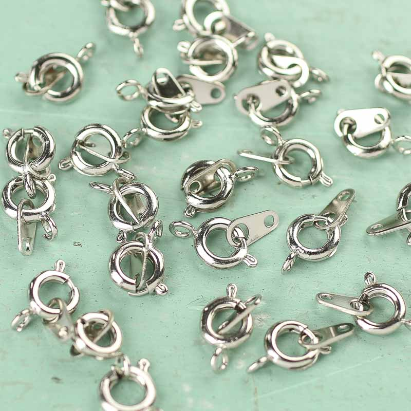 Silver Spring Ring and Loop Jewelry Attachments - Jewelry Findings ...