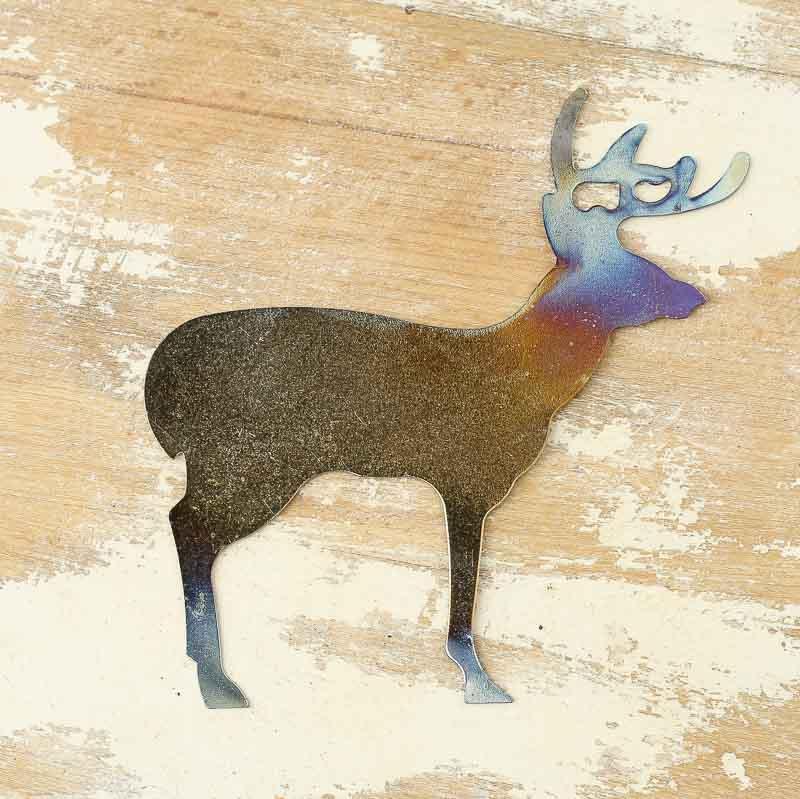 Burnished Metal Deer Cutout - Rusty Tin Cutouts - Rusty Tin ...