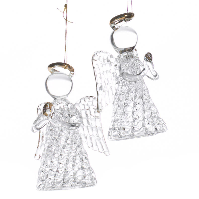 Clear Glass Angel Ornaments - Christmas Ornaments ...