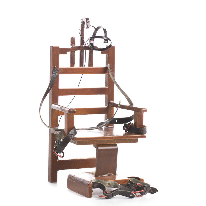 Dollhouse Miniature Old Sparky Electric Chair