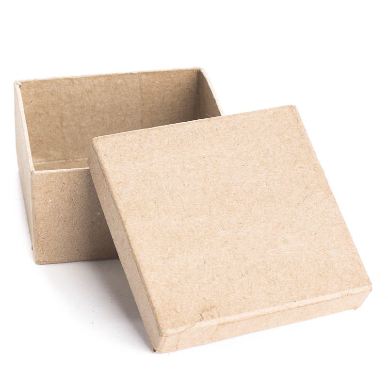 Small Square Paper Mache Box Baskets Buckets Boxes