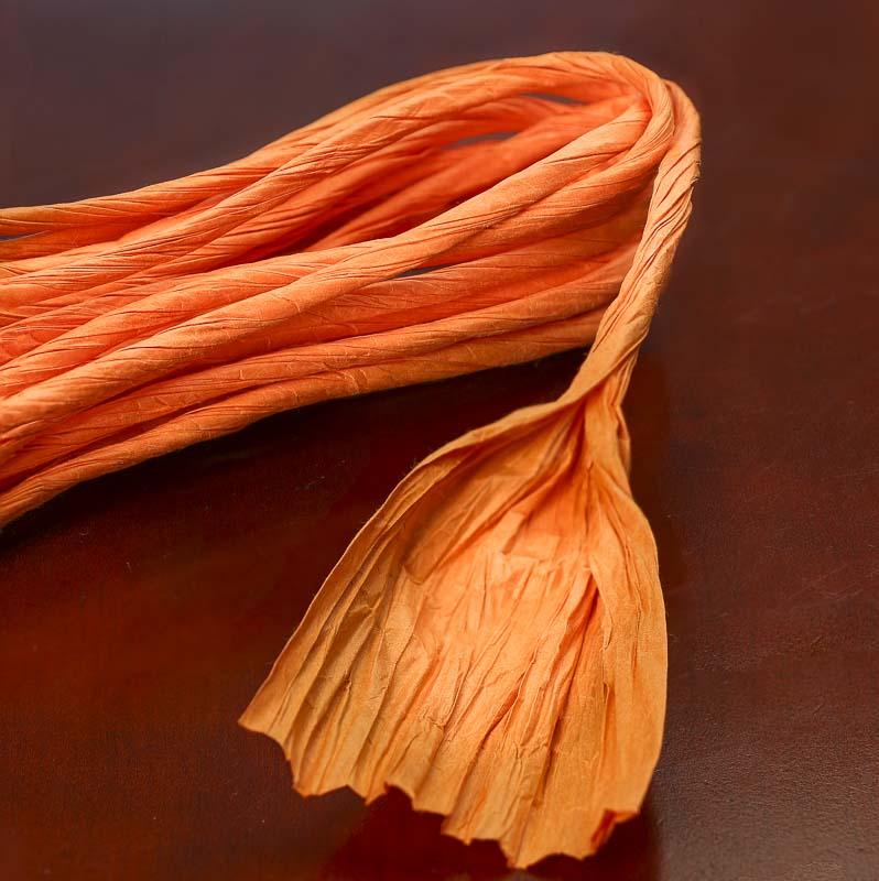 Pumpkin Orange Paper Twist Fall Craft Supplies Fall And