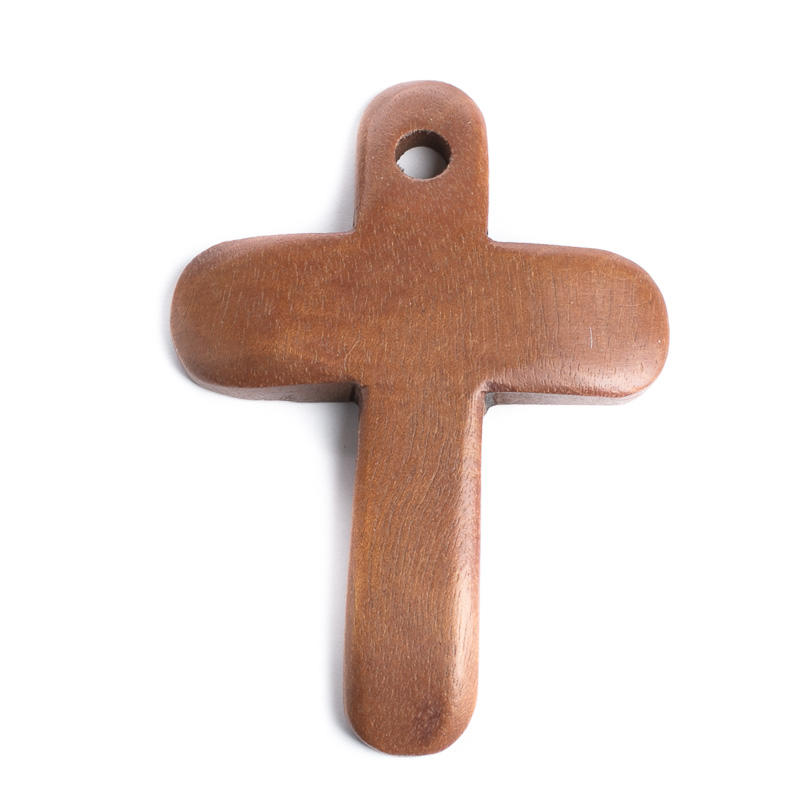 Wood Cross Pendant - Jewelry Charms - Jewelry Making - Beading - Craft