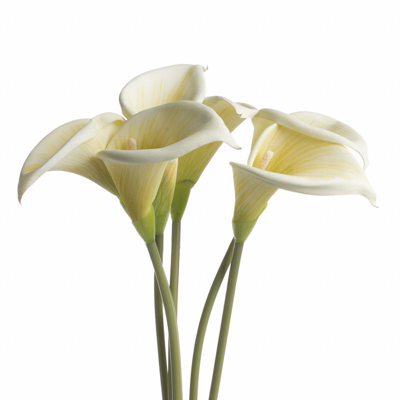 Cream Artificial Calla Lily Stems Picks And Stems