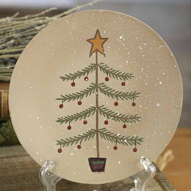 Primitive Wood Christmas Tree Plate : primitive wooden plates - pezcame.com