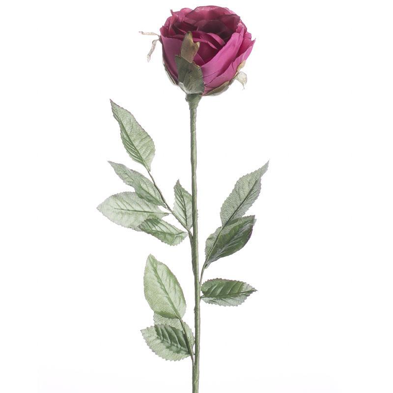 Burgundy Artificial Cabbage Rose Stem Picks Sprays