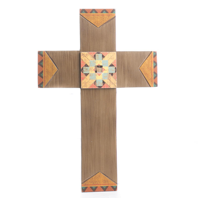 Tribal wood wall cross wall decor home decor Home decor wall crosses