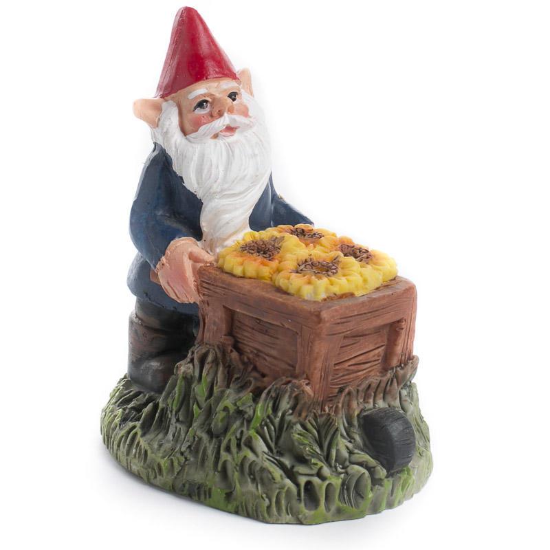 Gnome In Garden: Miniature Working Garden Gnome