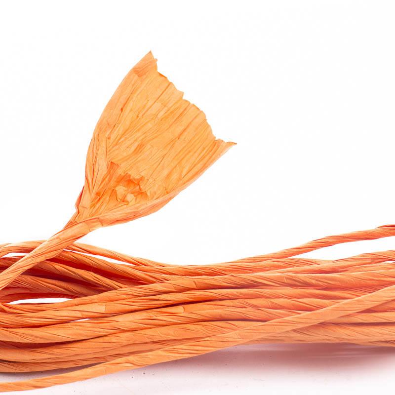 pumpkin orange paper twist  fall craft supplies  fall