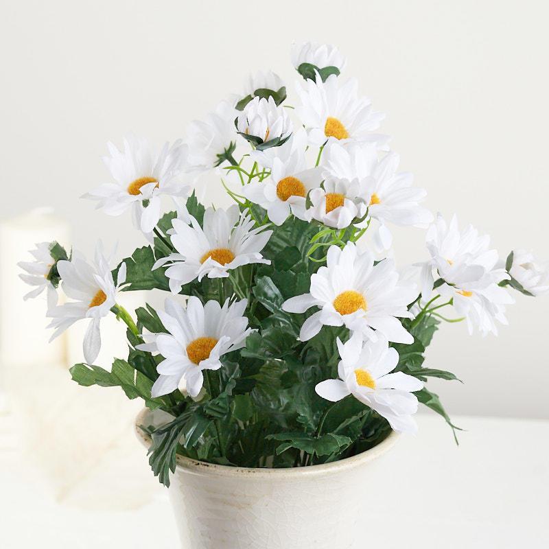 White Artificial Daisy Bush Bushes Bouquets Floral