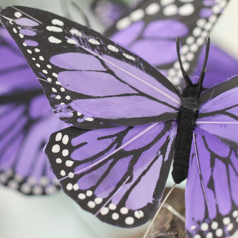 Royal Purple Artificial Monarch Butterflies Birds