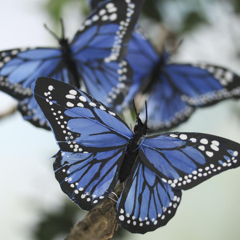 Royal Blue Butterfly Cake Decorations