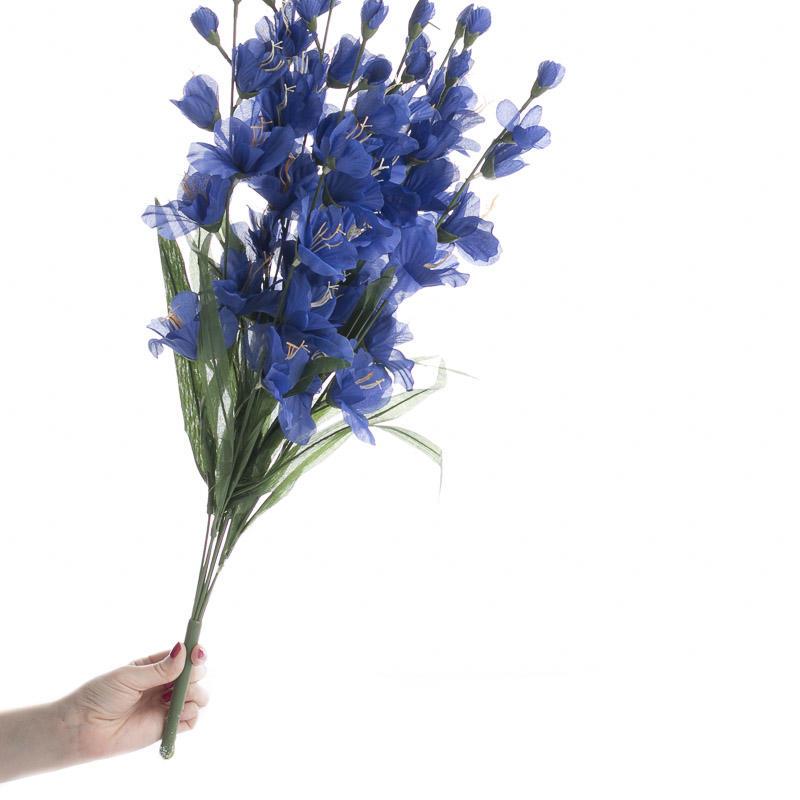 Blue Violet Artificial Gladiolus Bush Bushes Bouquets