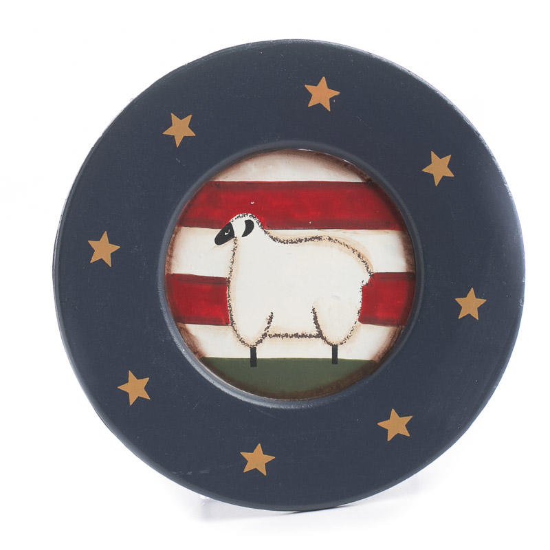 Primitive Americana Sheep Plate New Decorative Platters And Bowls