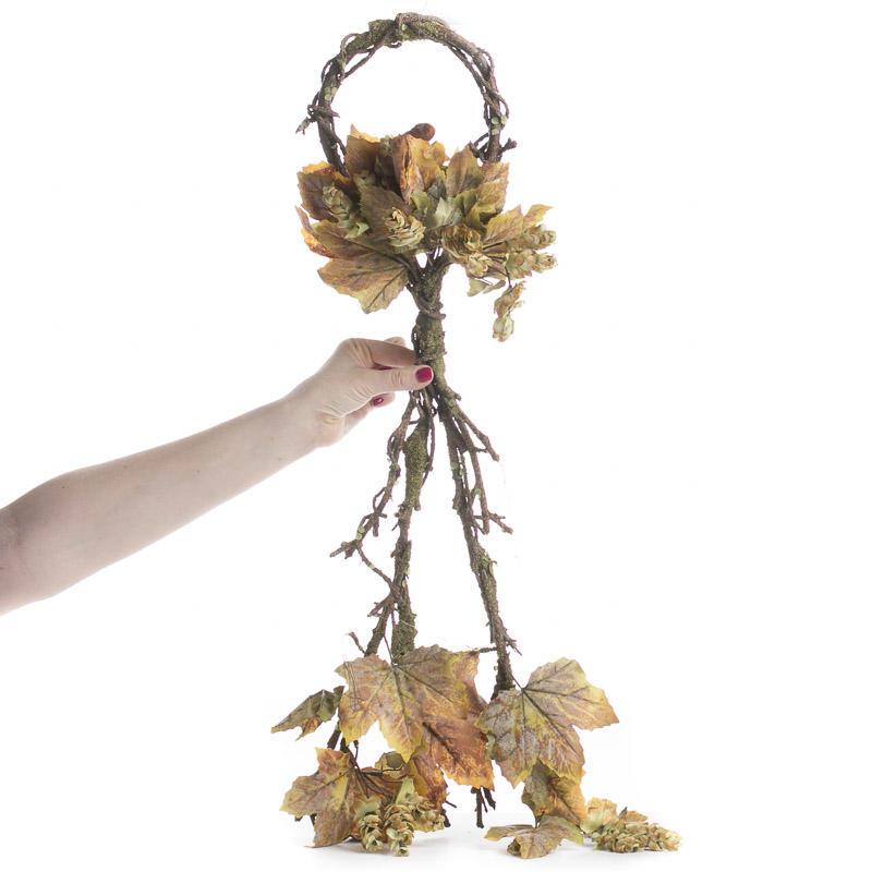 Artificial grape leaf and hops vine teardrop picks and for Artificial hops decoration