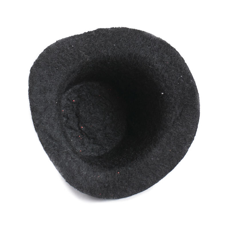 Miniature Black Felt Top Hat Doll Hats Doll Making