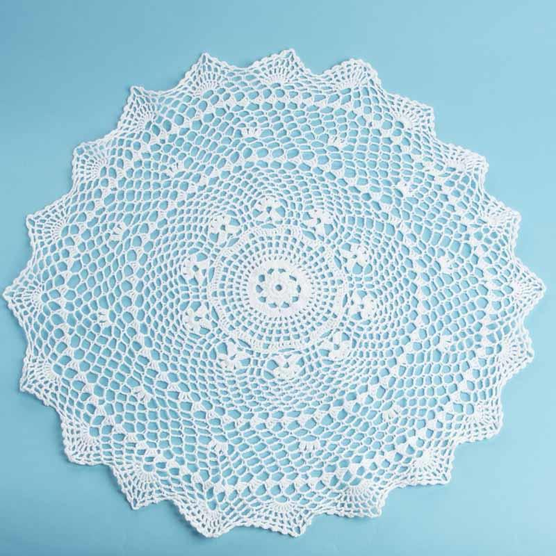 White Round Crocheted Doily Crochet And Lace Doilies Home Decor