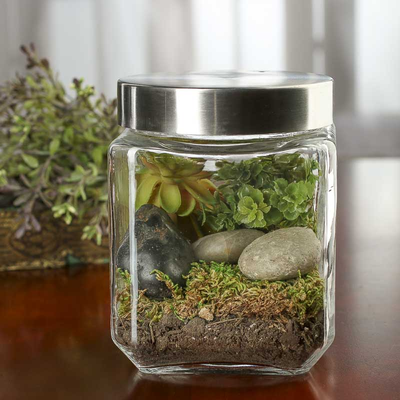 square glass canister decorative containers kitchen wayfair basics wayfair basics 4 piece square glass