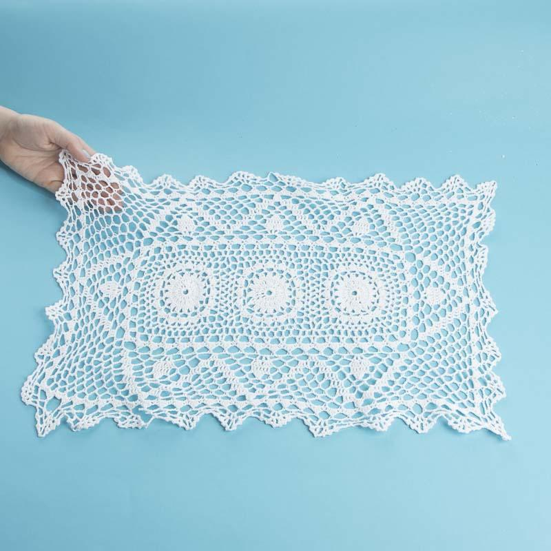 White Crocheted Doily Table Runner - - Crochet and Lace Doilies ...